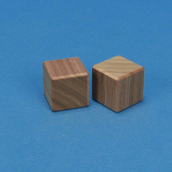 cubes en bois noyer 3 cm