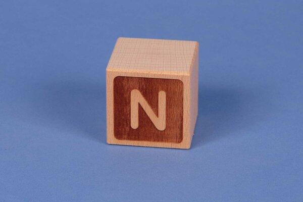 Houten naam blokken N negatief