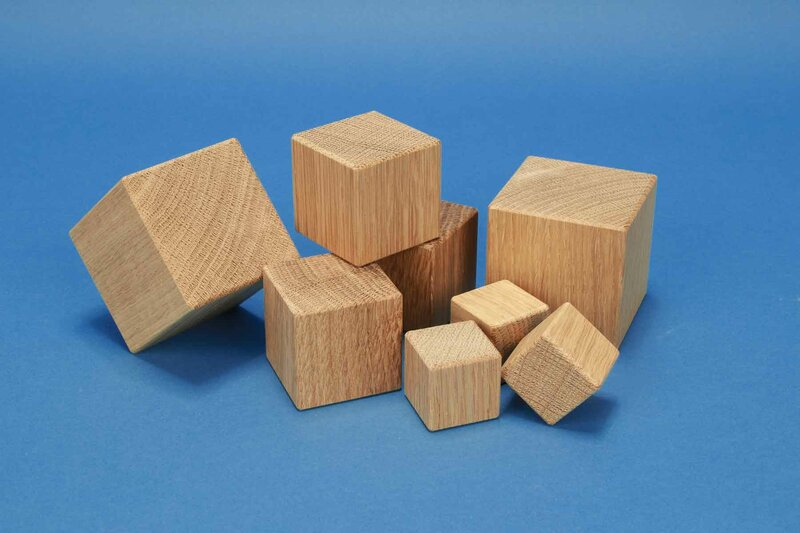 wooden cubes from oak
