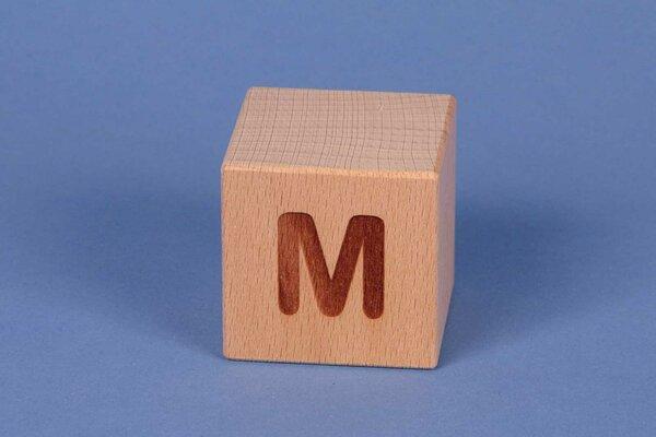 Buchstabenwürfel M positiv
