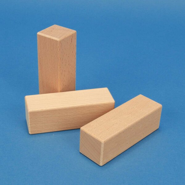 wooden blocks 9 x 3 x 3 cm