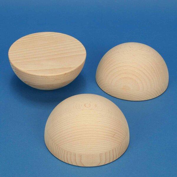 Demi Sphères en bois en hetre Ø150mm