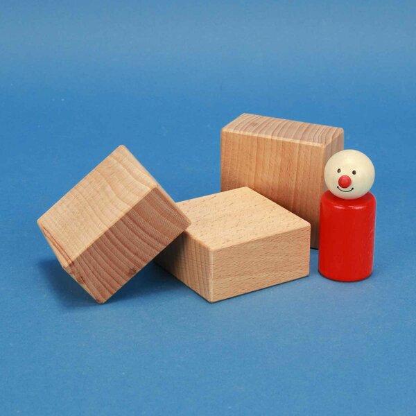 fröbel blocs de construction en bois 6 x 6 x 3 cm