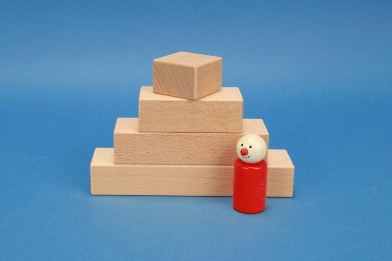 cubes en bois 4,5 x 3 cm