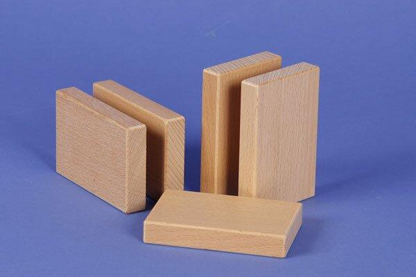 houten bouwblokken 9 x 6 x 1,5 cm