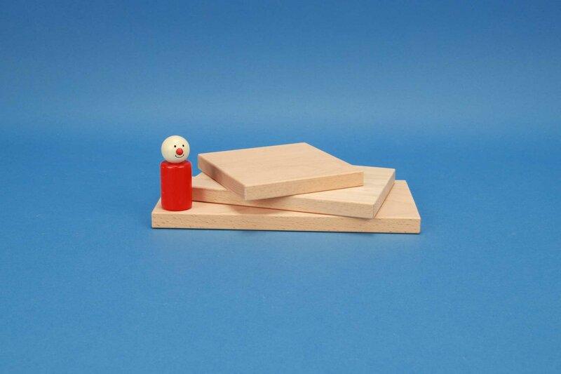 cubes en bois plat 12 x 1,5 cm