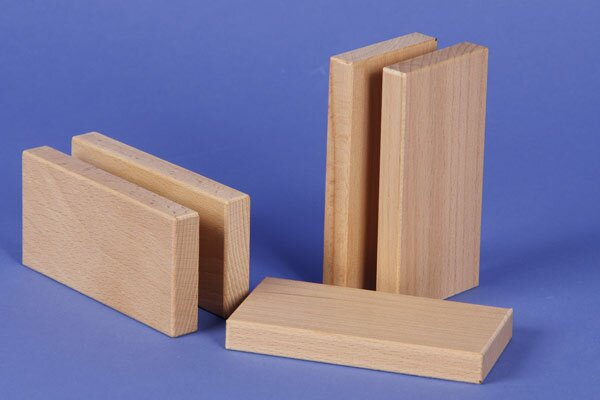 blocs de construction de bois 12 x 6 x 1,5 cm