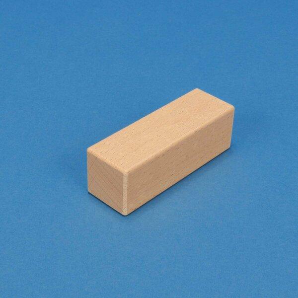 wooden stamp 9 x 3 x 3 cm