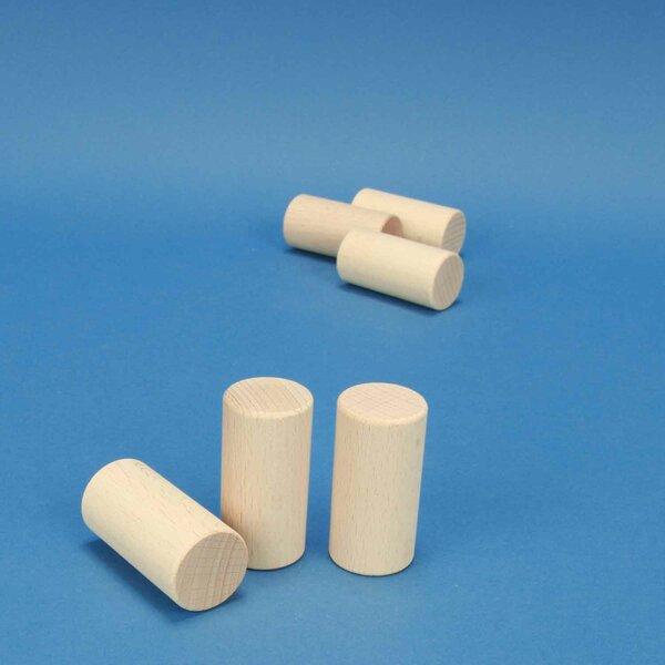 wooden block round Ø 3 x 6 cm