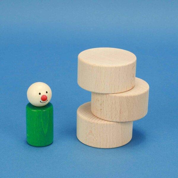 houten blokken rond Ø 6 x 3 cm