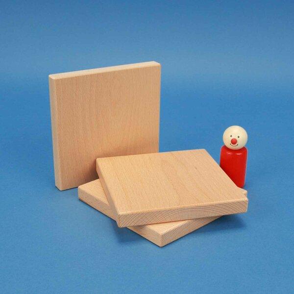 blocs de construction de bois 12 x 12 x 1,5 cm