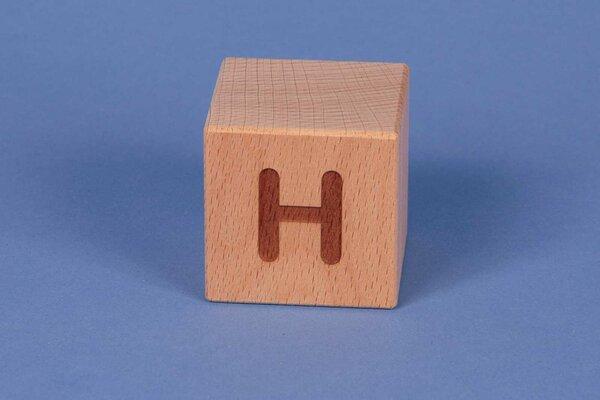 Buchstabenwürfel H positiv