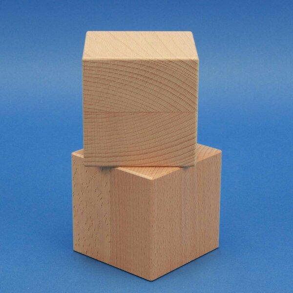 houten kubus blokken 9 cm