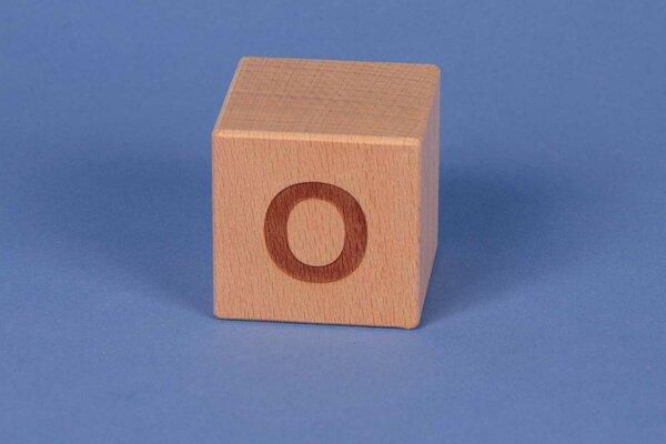 Letter cubes O positive