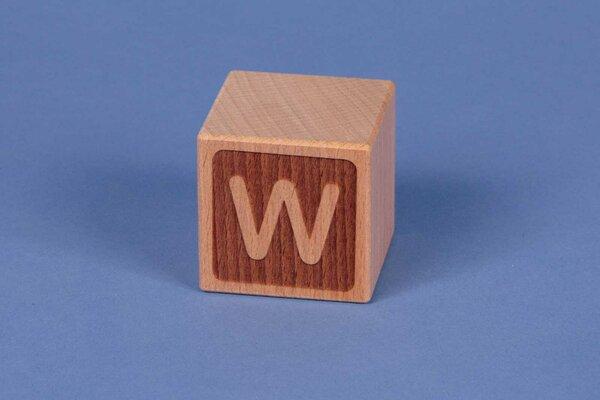 Cubes en lettres W négatif