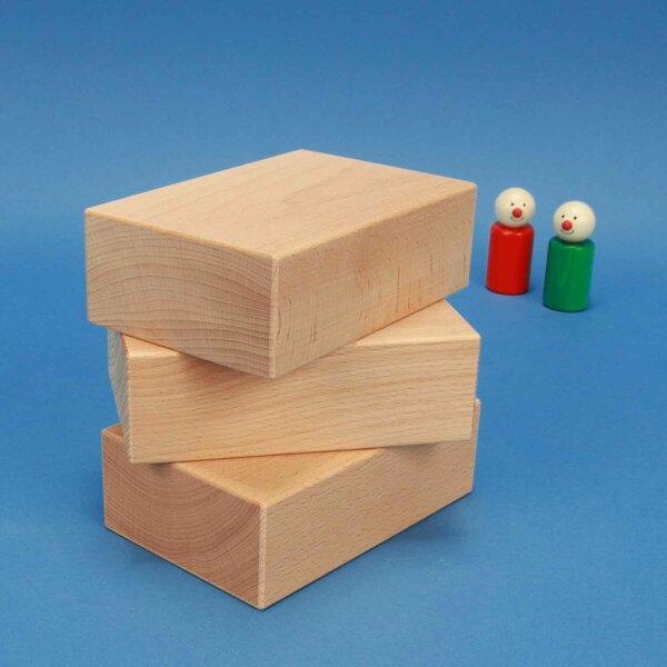 extra grote houten blokken 13,5 x 9 x 4,5 cm
