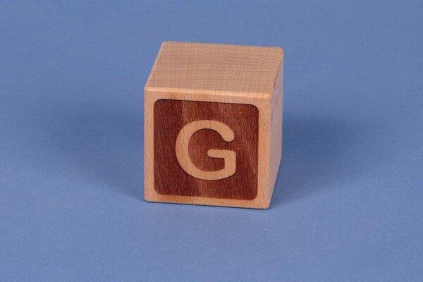 Letter cubes G negative